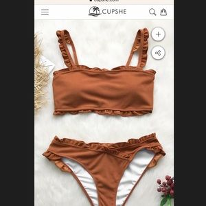Cupshe two piece rust new with tags
